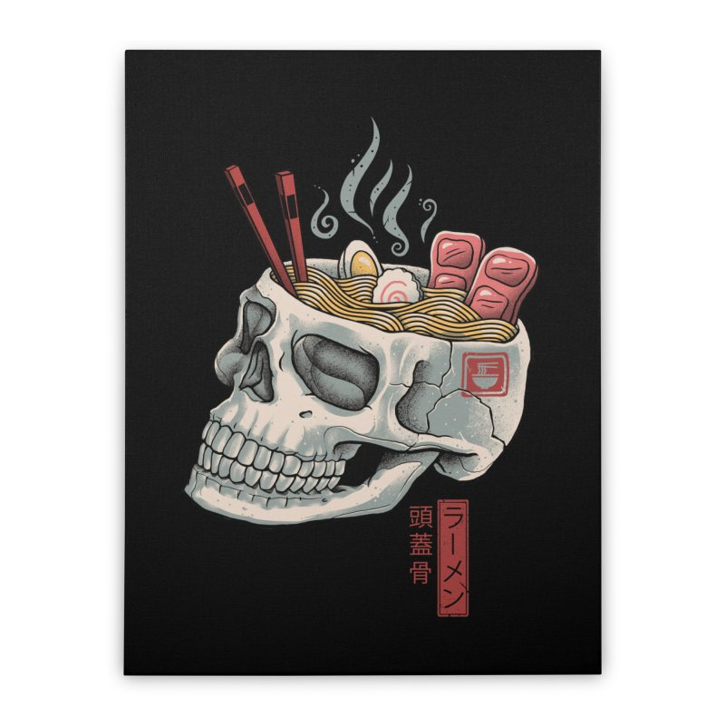Ramen Skull Home Stretched Canvas by Vincent Trinidad Art