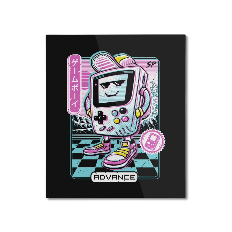 Gamer Boy Home Mounted Aluminum Print by Vincent Trinidad Art