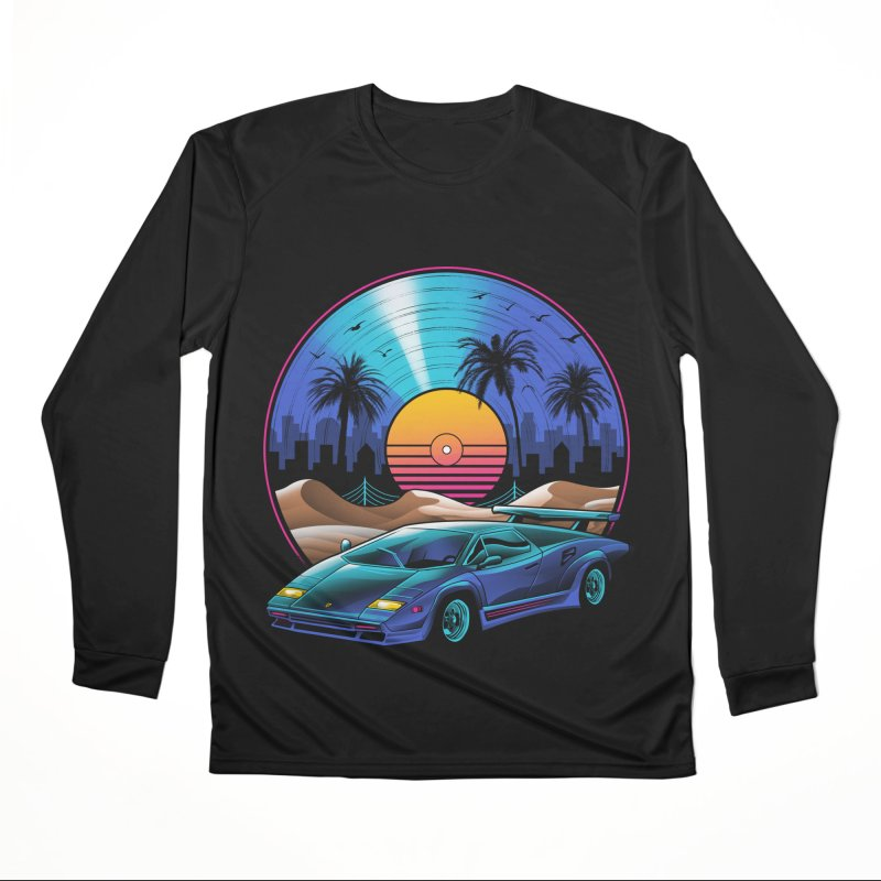Retro Vinyl Soundtrack Men's Performance Longsleeve T-Shirt by Vincent Trinidad Art