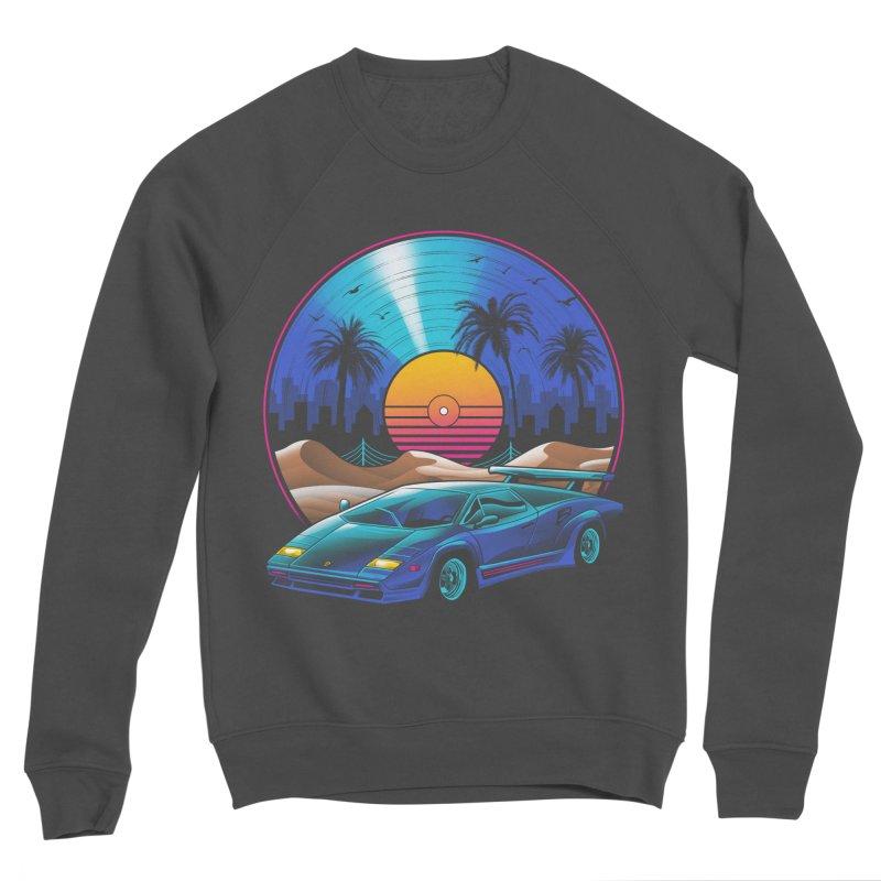 Retro Vinyl Soundtrack Men's Sponge Fleece Sweatshirt by Vincent Trinidad Art