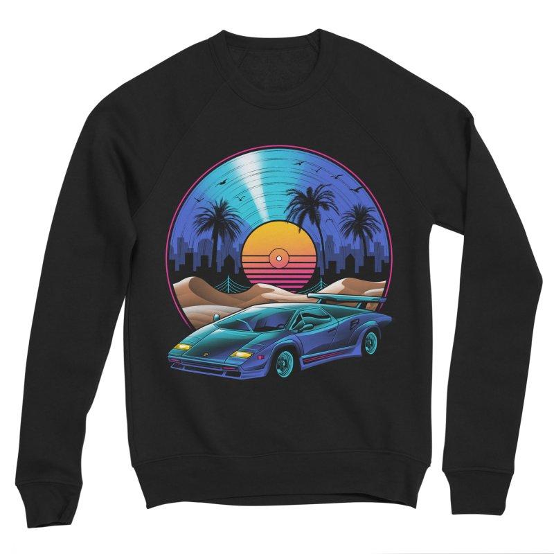 Retro Vinyl Soundtrack Women's Sponge Fleece Sweatshirt by Vincent Trinidad Art