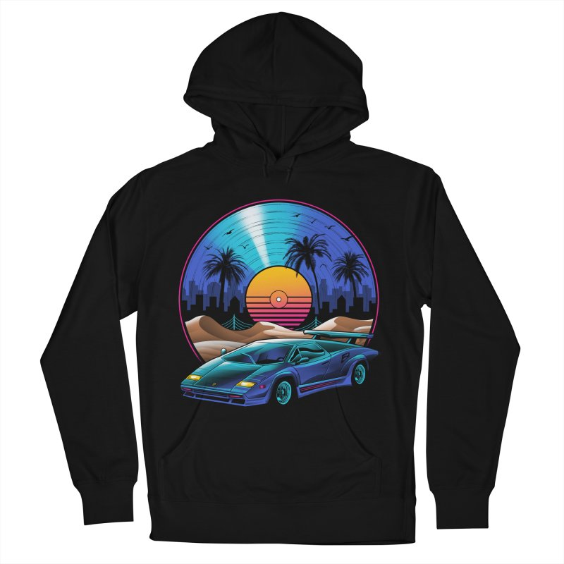 Retro Vinyl Soundtrack Women's French Terry Pullover Hoody by Vincent Trinidad Art