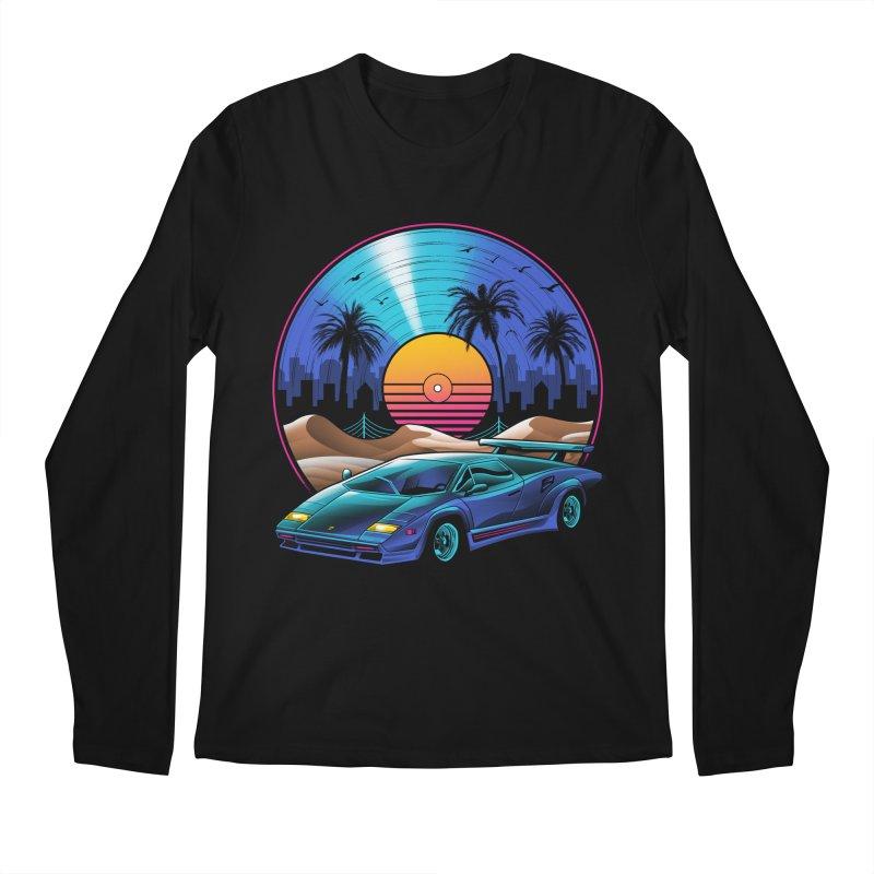 Retro Vinyl Soundtrack Men's Regular Longsleeve T-Shirt by Vincent Trinidad Art