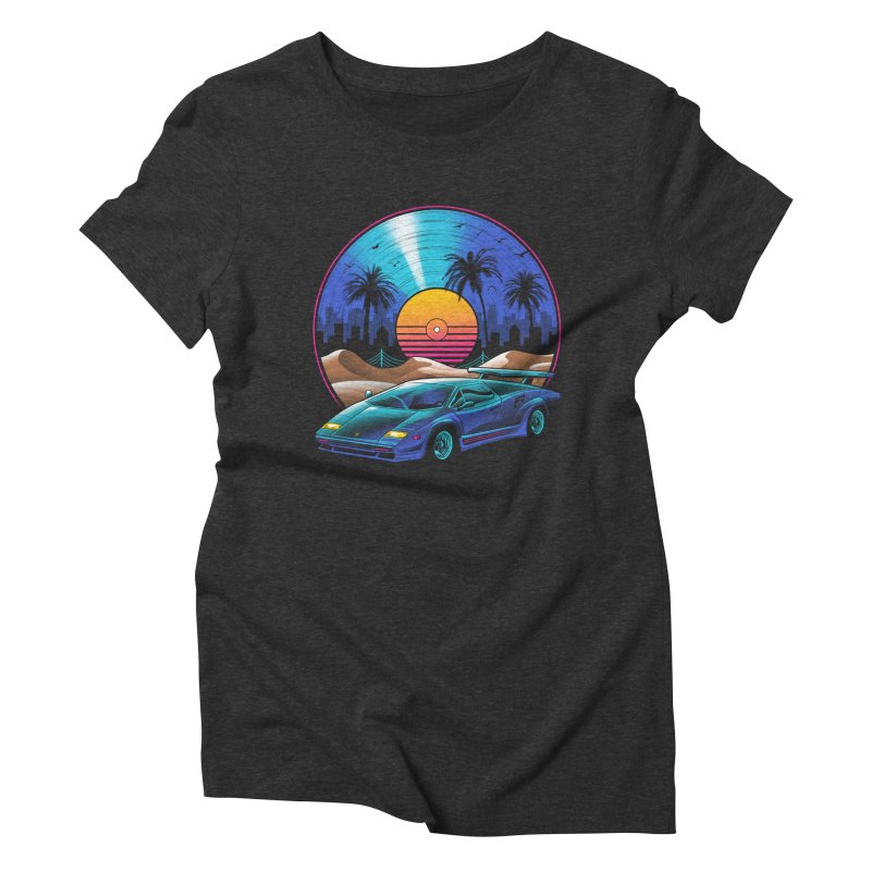Retro Vinyl Soundtrack Women's Triblend T-Shirt by Vincent Trinidad Art