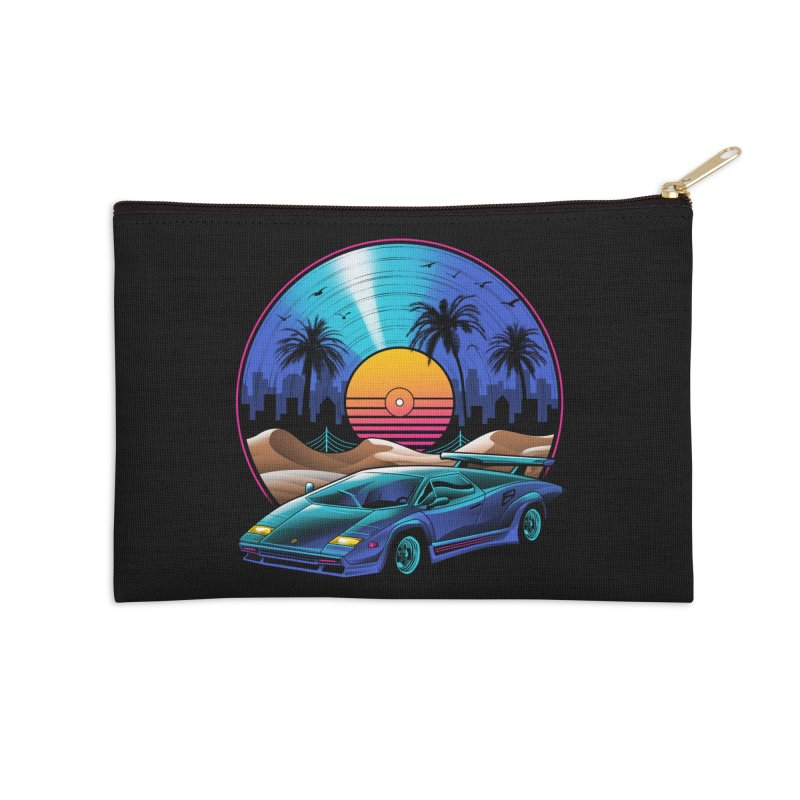 Retro Vinyl Soundtrack Accessories Zip Pouch by Vincent Trinidad Art