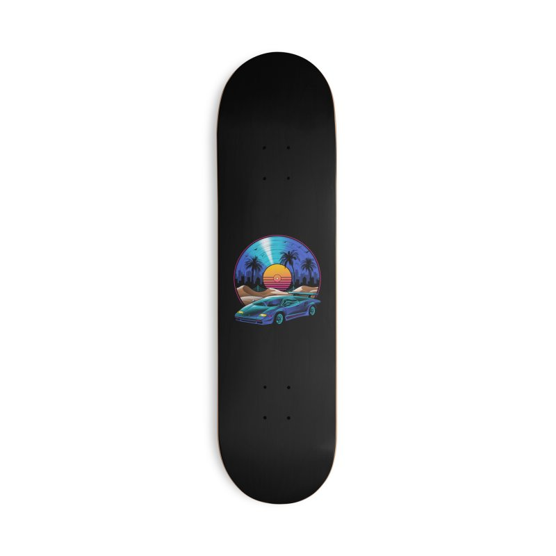 Retro Vinyl Soundtrack Accessories Deck Only Skateboard by Vincent Trinidad Art
