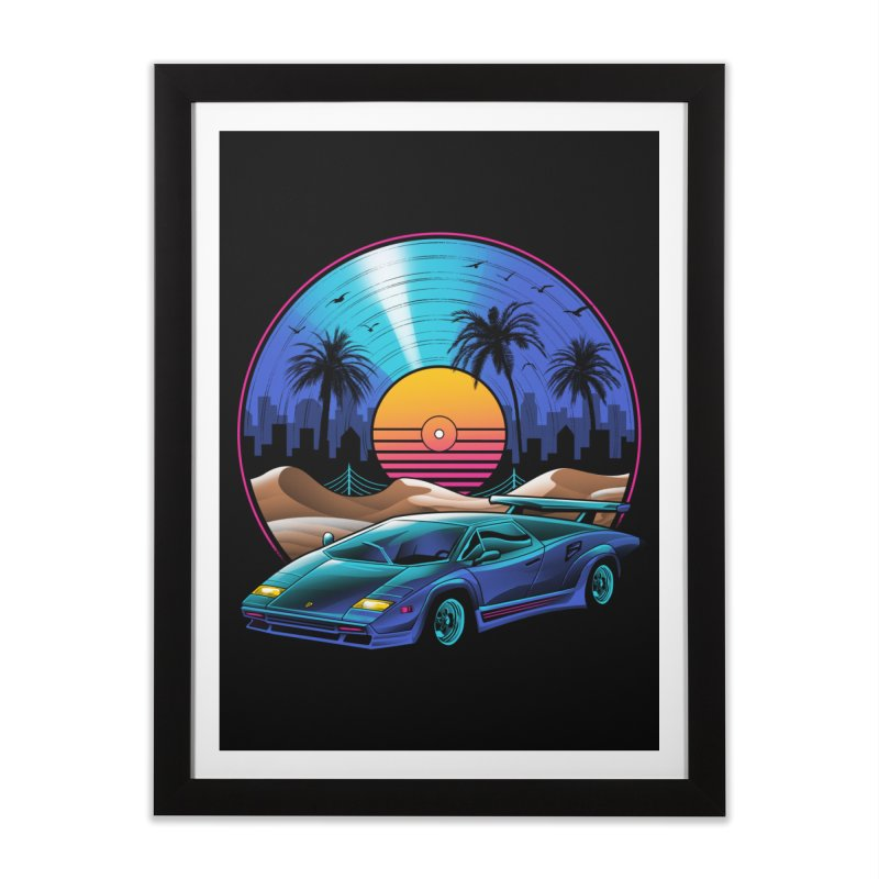 Retro Vinyl Soundtrack Home Framed Fine Art Print by Vincent Trinidad Art