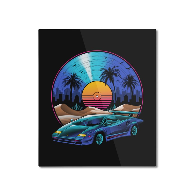 Retro Vinyl Soundtrack Home Mounted Aluminum Print by Vincent Trinidad Art