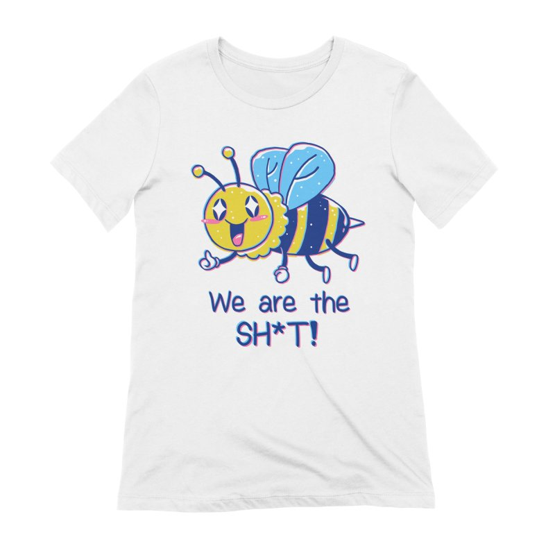 Bees are the Sh*t! Women's Extra Soft T-Shirt by Vincent Trinidad Art