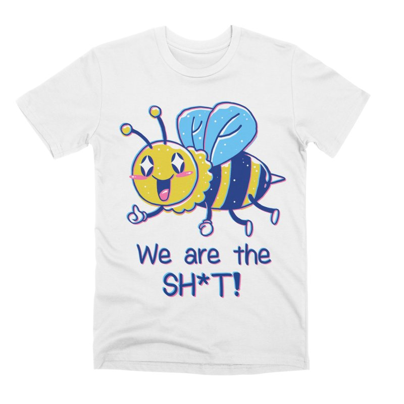Bees are the Sh*t! Men's Premium T-Shirt by Vincent Trinidad Art