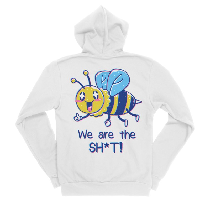 Bees are the Sh*t! Men's Sponge Fleece Zip-Up Hoody by Vincent Trinidad Art