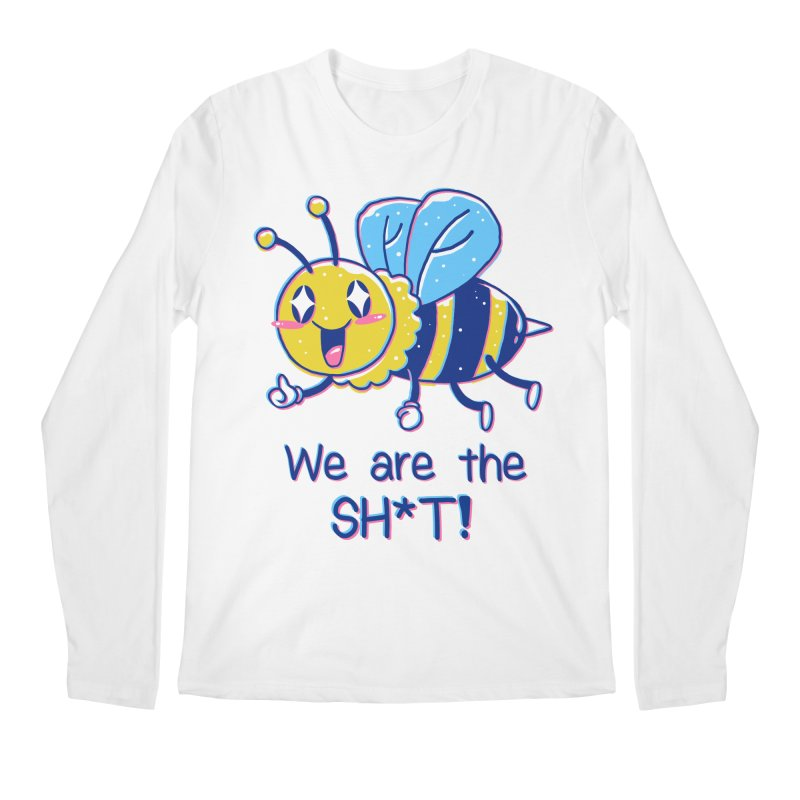 Bees are the Sh*t! Men's Regular Longsleeve T-Shirt by Vincent Trinidad Art