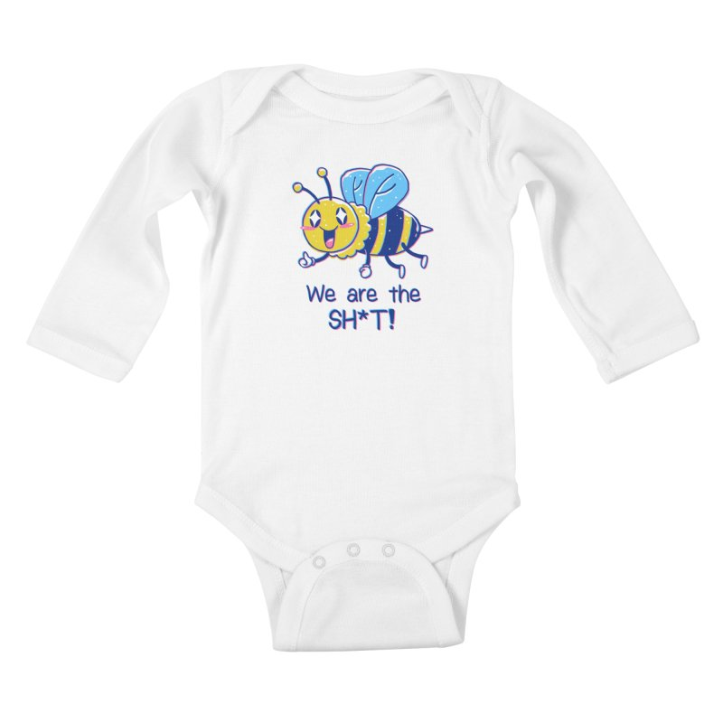 Bees are the Sh*t! Kids Baby Longsleeve Bodysuit by Vincent Trinidad Art