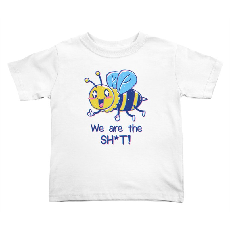 Bees are the Sh*t! Kids Toddler T-Shirt by Vincent Trinidad Art