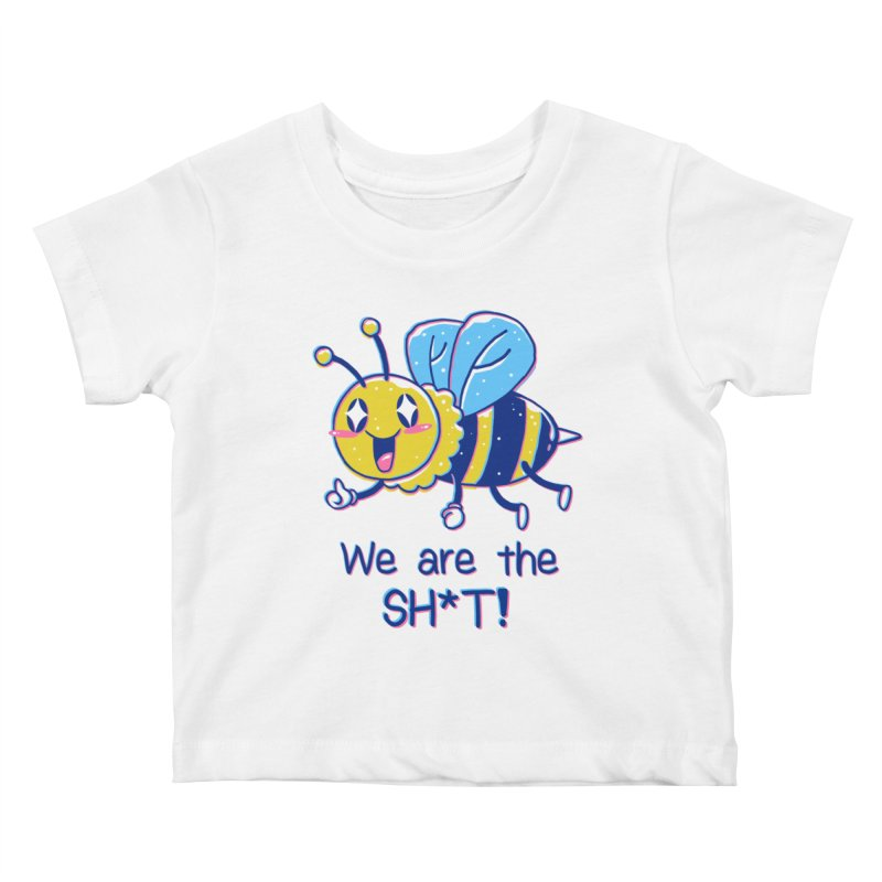 Bees are the Sh*t! Kids Baby T-Shirt by Vincent Trinidad Art