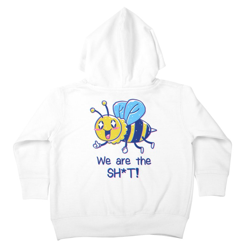Bees are the Sh*t! Kids Toddler Zip-Up Hoody by Vincent Trinidad Art