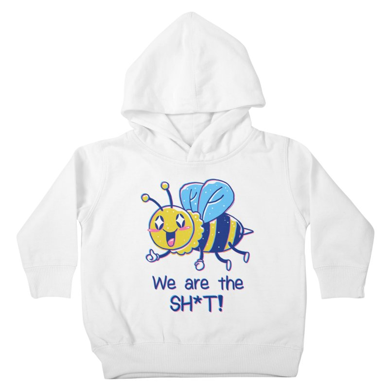 Bees are the Sh*t! Kids Toddler Pullover Hoody by Vincent Trinidad Art