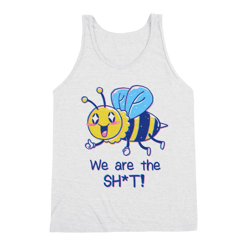 Bees are the Sh*t! Men's Triblend Tank by Vincent Trinidad Art