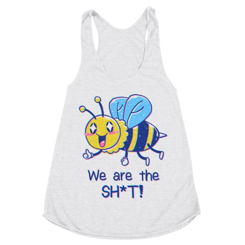Bees are the Sh*t! Women's Racerback Triblend Tank by Vincent Trinidad Art