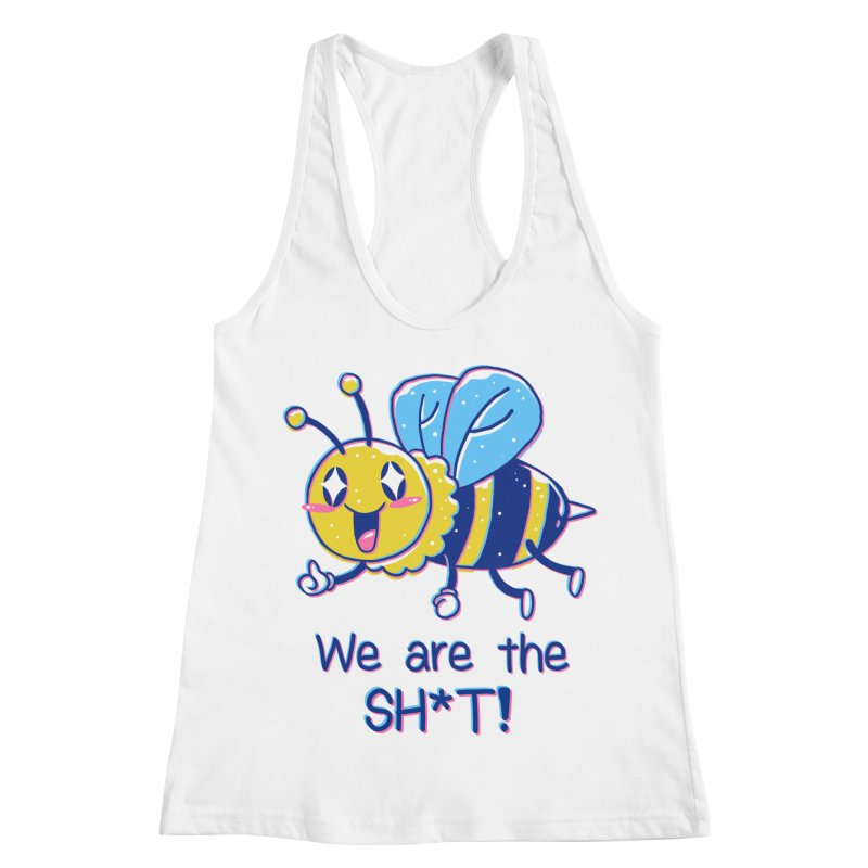 Bees are the Sh*t! Women's Racerback Tank by Vincent Trinidad Art