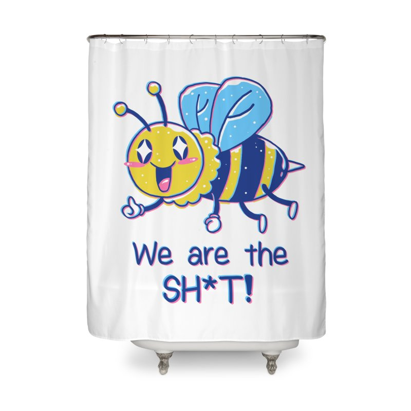 Bees are the Sh*t! Home Shower Curtain by Vincent Trinidad Art