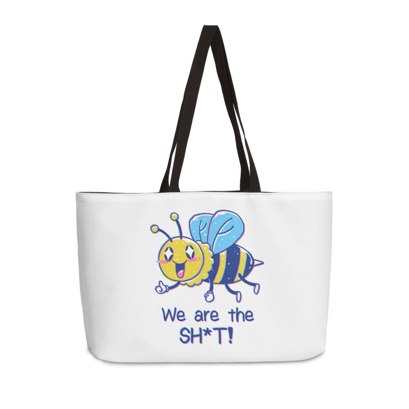Bees are the Sh*t! Accessories Weekender Bag Bag by Vincent Trinidad Art