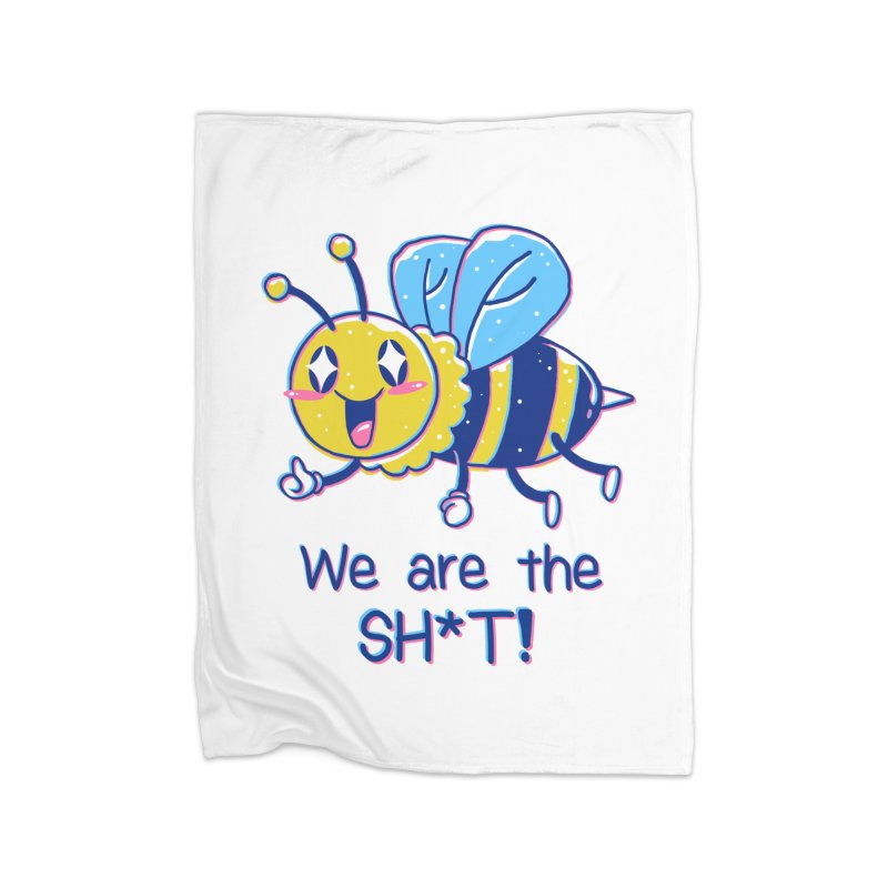 Bees are the Sh*t! Home Fleece Blanket Blanket by Vincent Trinidad Art