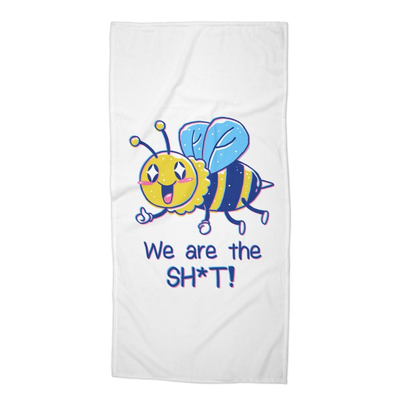 Bees are the Sh*t! Accessories Beach Towel by Vincent Trinidad Art