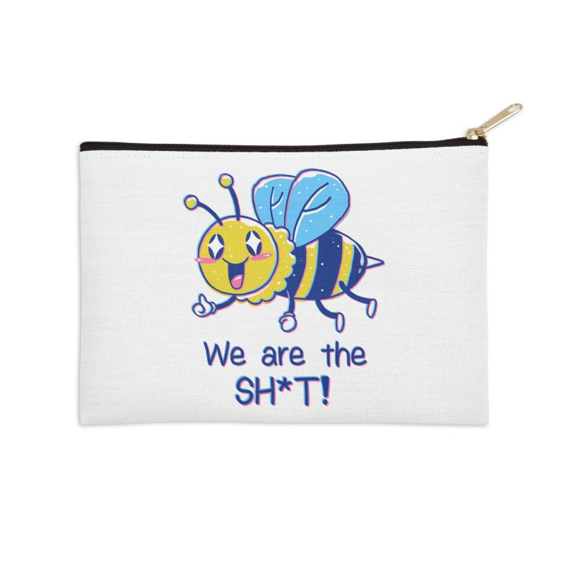 Bees are the Sh*t! Accessories Zip Pouch by Vincent Trinidad Art