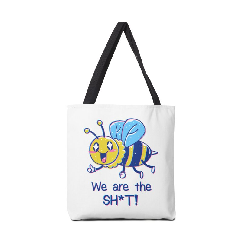 Bees are the Sh*t! Accessories Tote Bag Bag by Vincent Trinidad Art
