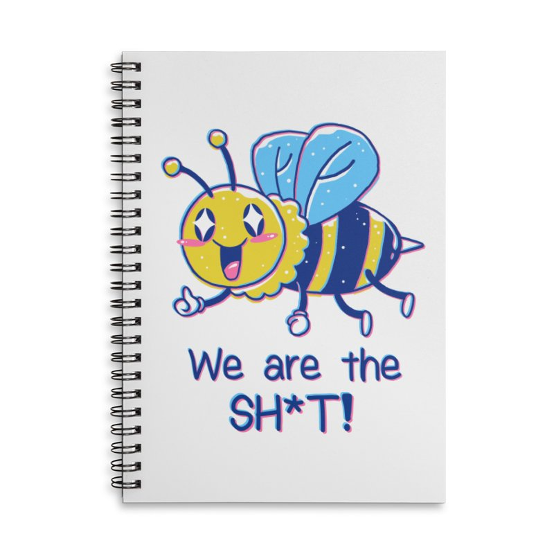 Bees are the Sh*t! Accessories Lined Spiral Notebook by Vincent Trinidad Art