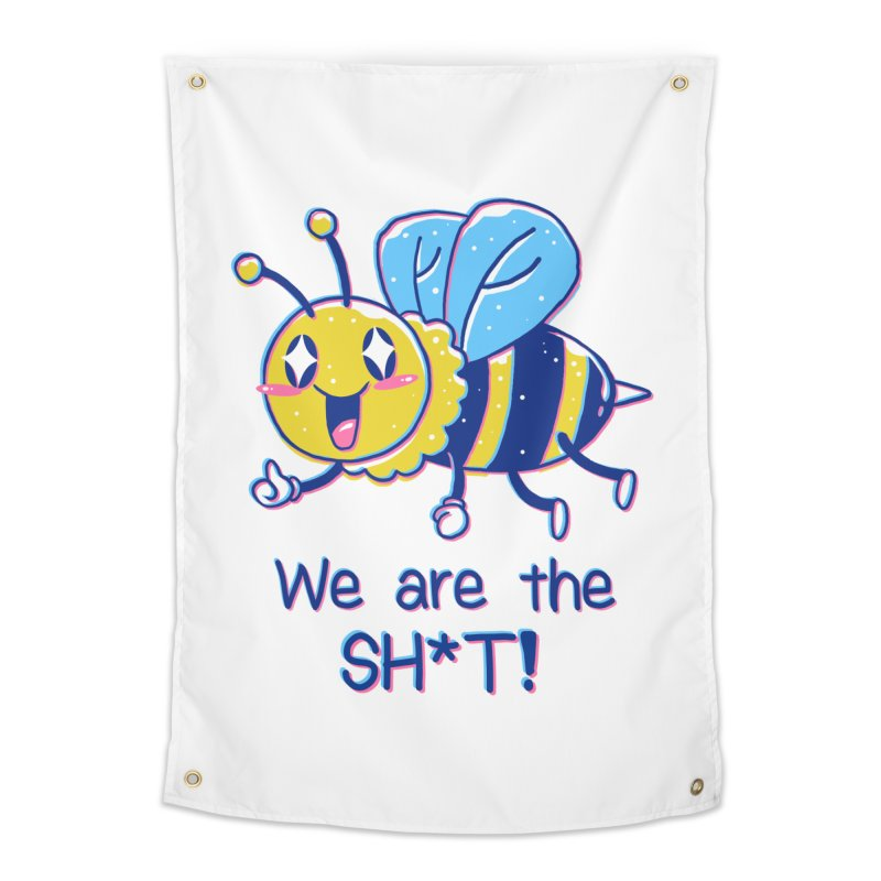 Bees are the Sh*t! Home Tapestry by Vincent Trinidad Art