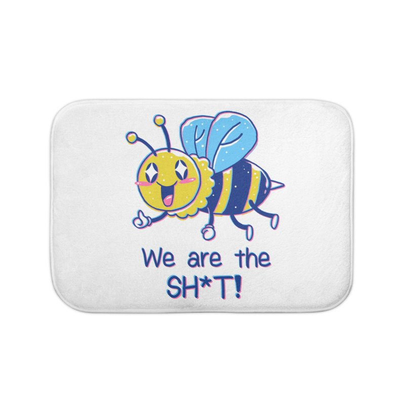 Bees are the Sh*t! Home Bath Mat by Vincent Trinidad Art