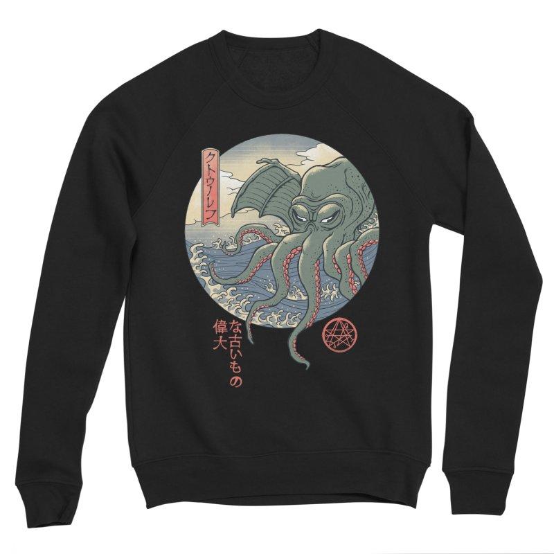 Cthulhu Ukiyo-e Men's Sponge Fleece Sweatshirt by Vincent Trinidad Art