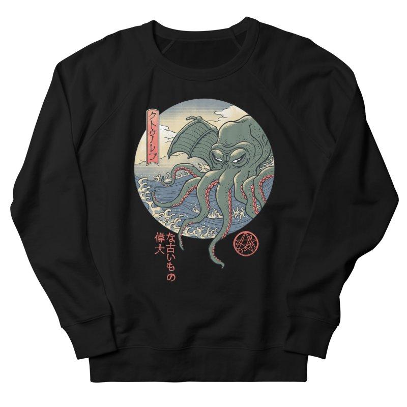Cthulhu Ukiyo-e Women's French Terry Sweatshirt by Vincent Trinidad Art