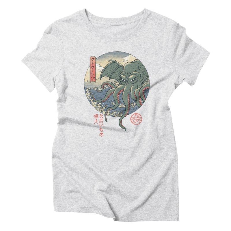 Cthulhu Ukiyo-e Women's T-Shirt by Vincent Trinidad Art