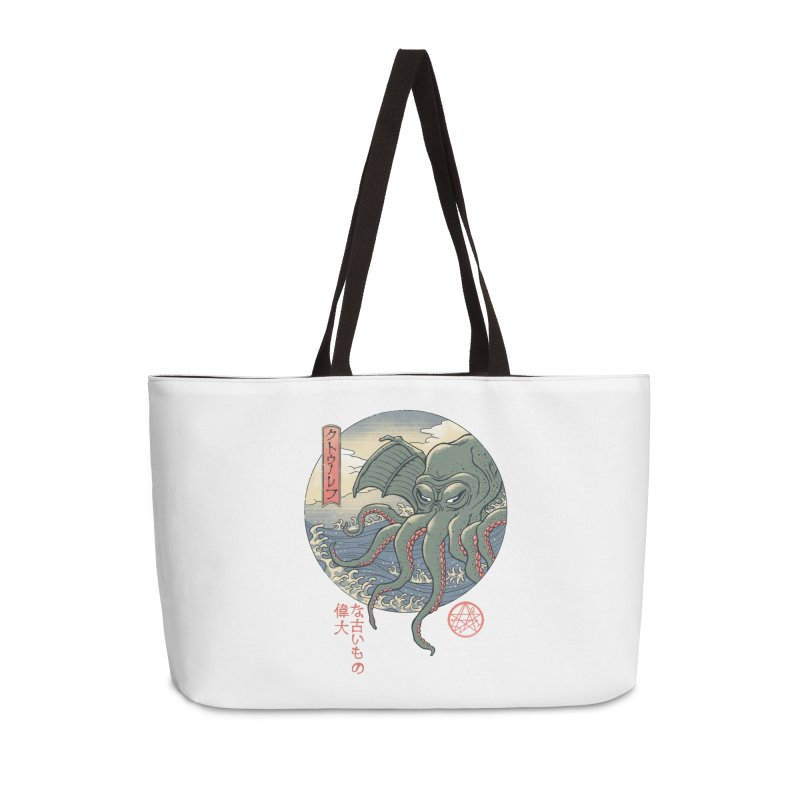 Cthulhu Ukiyo-e Accessories Weekender Bag Bag by Vincent Trinidad Art