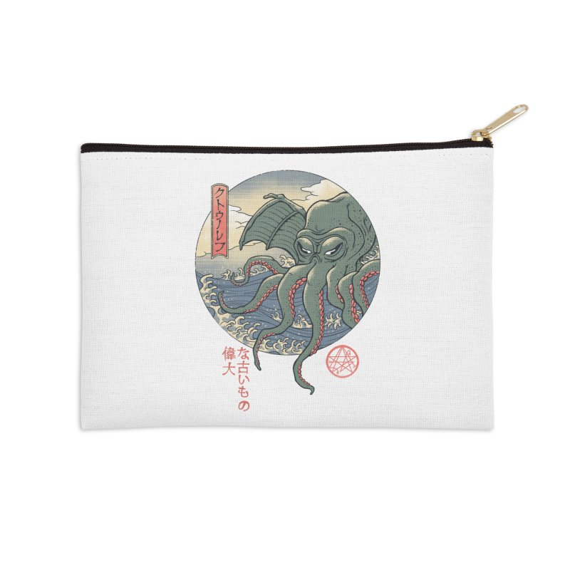 Cthulhu Ukiyo-e Accessories Zip Pouch by Vincent Trinidad Art