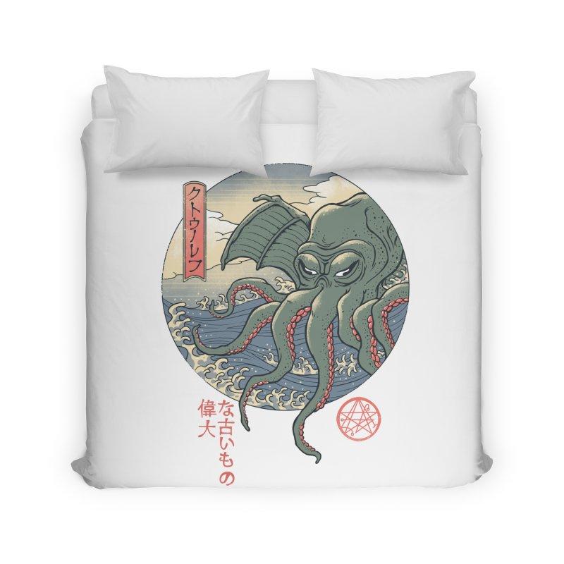 Cthulhu Ukiyo-e Home Duvet by Vincent Trinidad Art