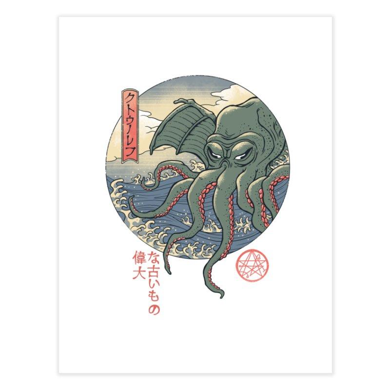 Cthulhu Ukiyo-e Home Fine Art Print by Vincent Trinidad Art