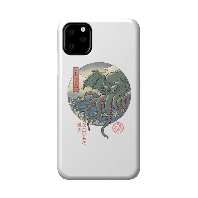 Cthulhu Ukiyo-e Accessories Phone Case by Vincent Trinidad Art