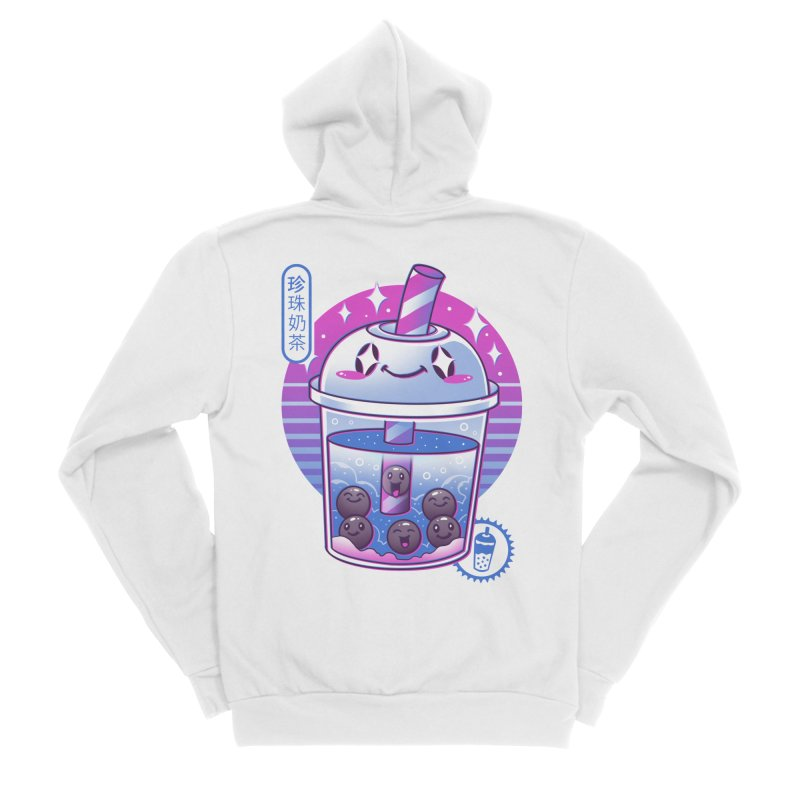 Boba Wave Tea Men's Sponge Fleece Zip-Up Hoody by Vincent Trinidad Art