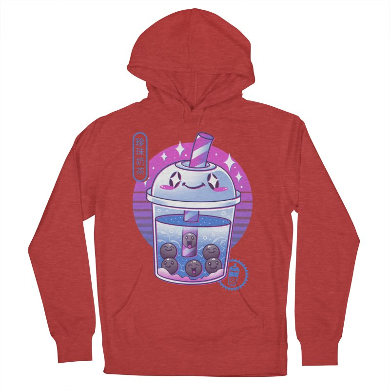 Boba Wave Tea Women's French Terry Pullover Hoody by Vincent Trinidad Art