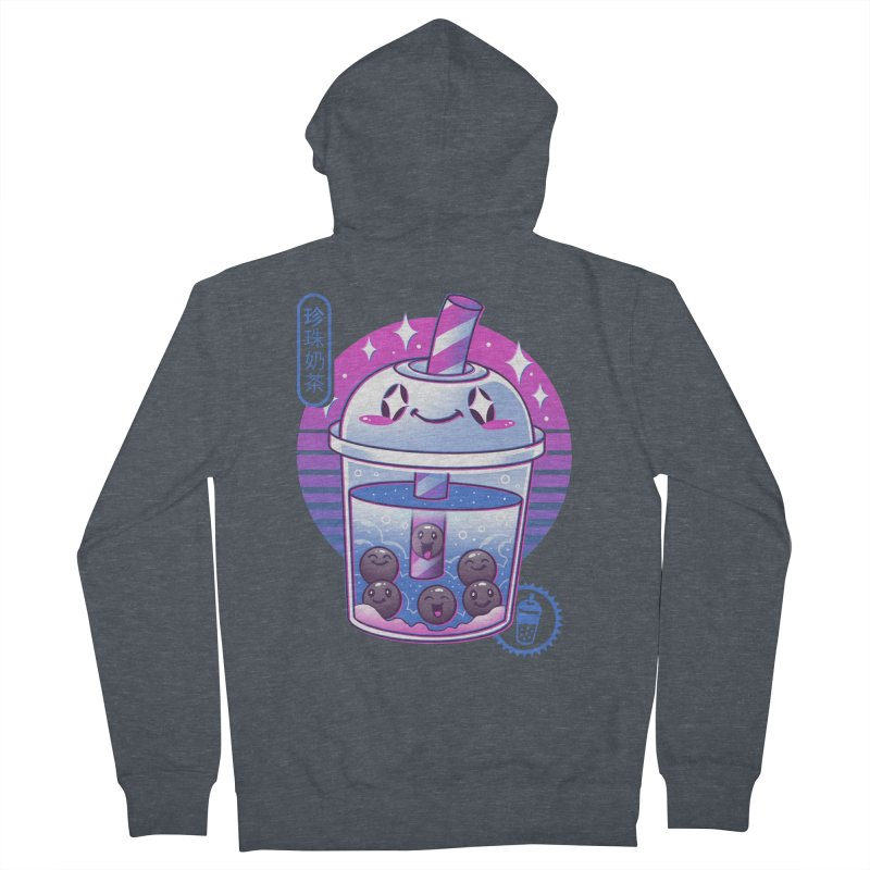 Boba Wave Tea Women's French Terry Zip-Up Hoody by Vincent Trinidad Art