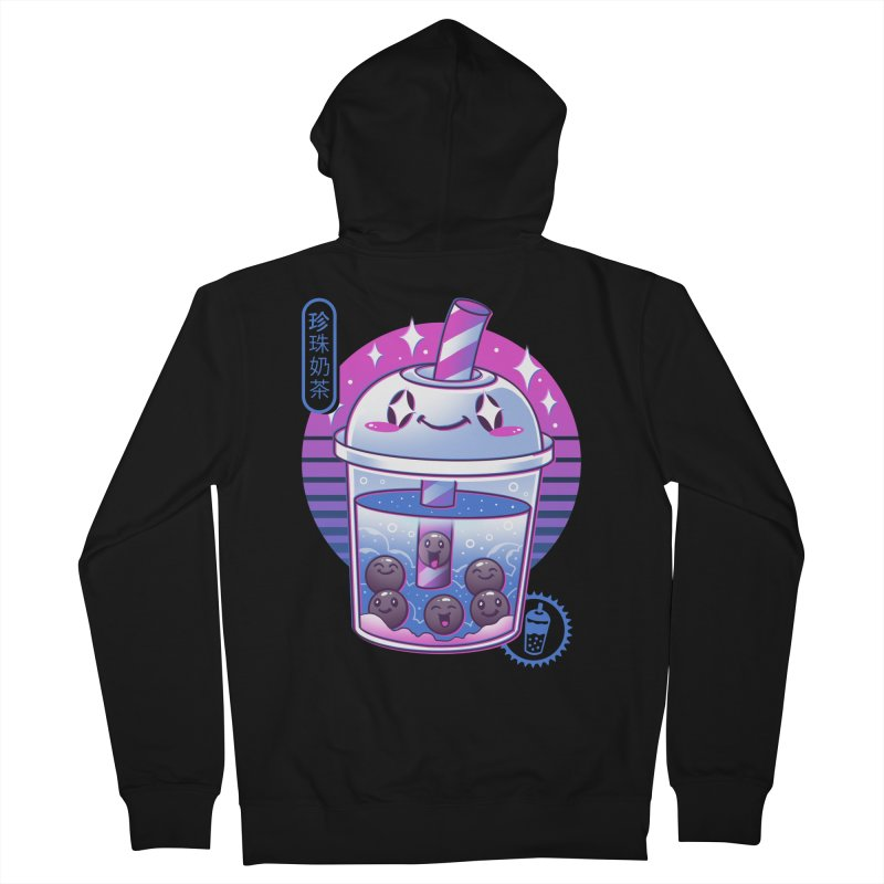 Boba Wave Tea Men's French Terry Zip-Up Hoody by Vincent Trinidad Art