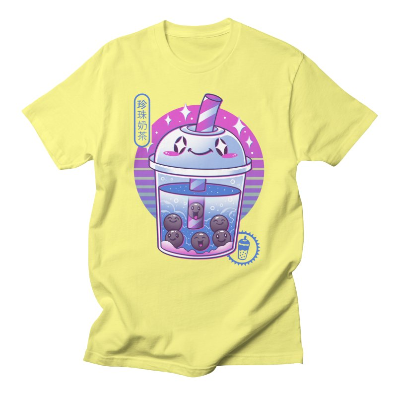 Boba Wave Tea Men's Regular T-Shirt by Vincent Trinidad Art