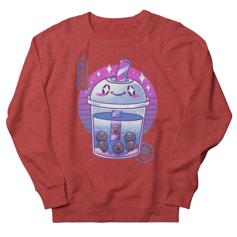 Boba Wave Tea Women's French Terry Sweatshirt by Vincent Trinidad Art