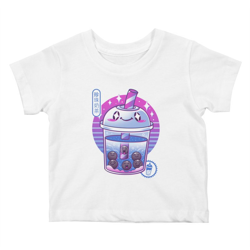 Boba Wave Tea Kids Baby T-Shirt by Vincent Trinidad Art
