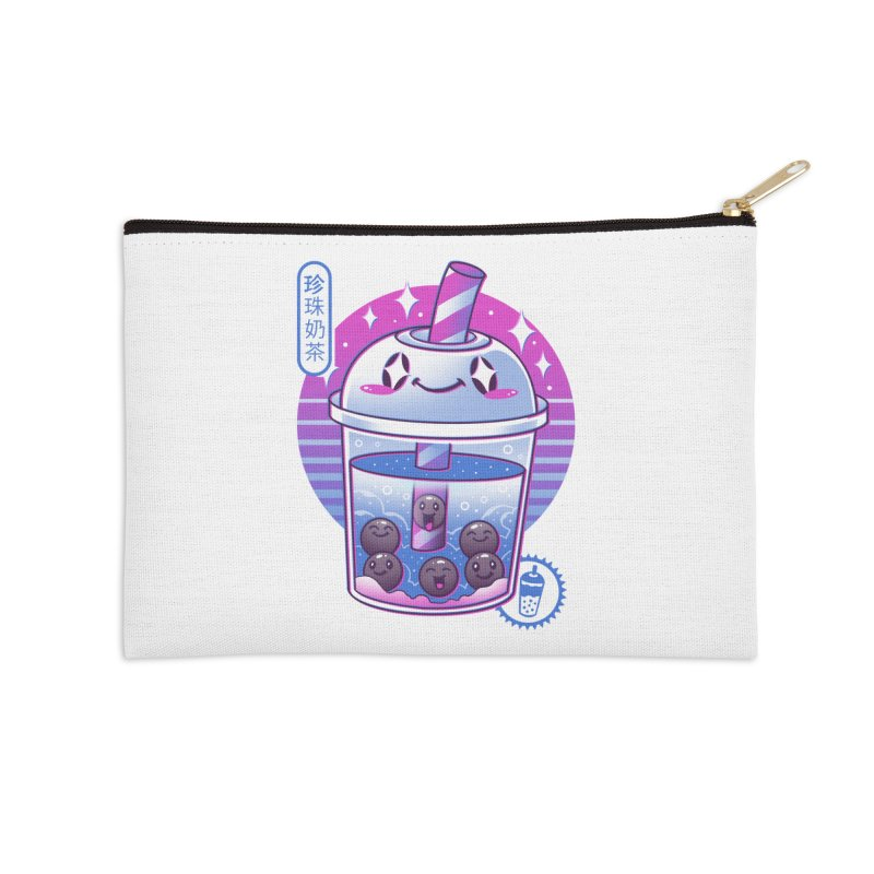 Boba Wave Tea Accessories Zip Pouch by Vincent Trinidad Art