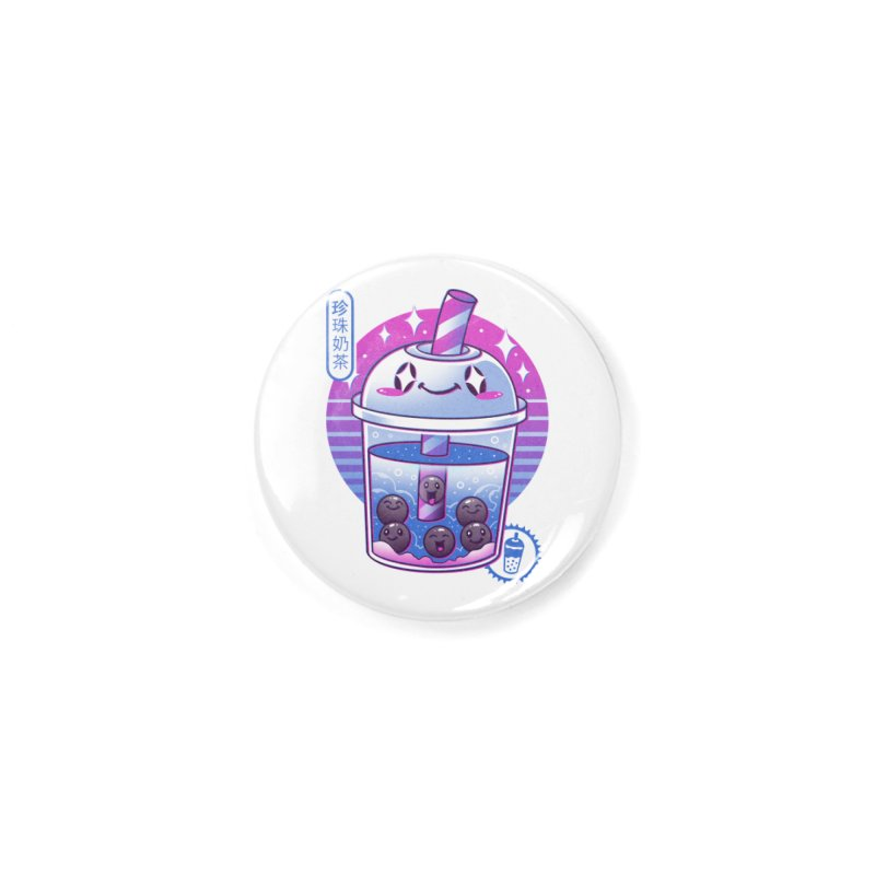 Boba Wave Tea Accessories Button by Vincent Trinidad Art